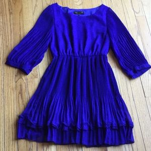 Blue 3 Quarter Dress